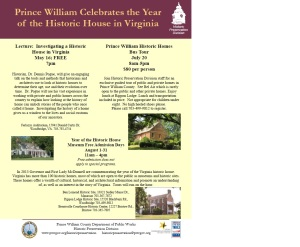 Prince William Celebrates the Year of the Historic House in Virginia