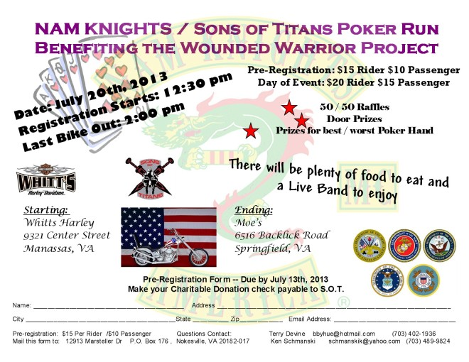 Flyer for Nam Knights 2b