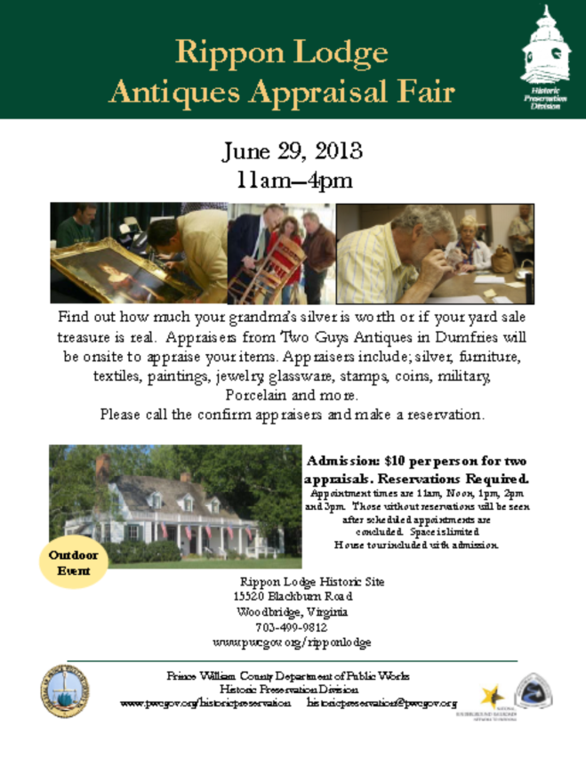 Rippon Lodge Antiques Appraisal Fairf