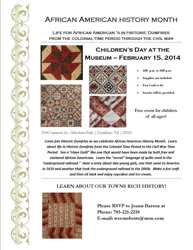 African American History Month 2014 - Children's Day at the Museum