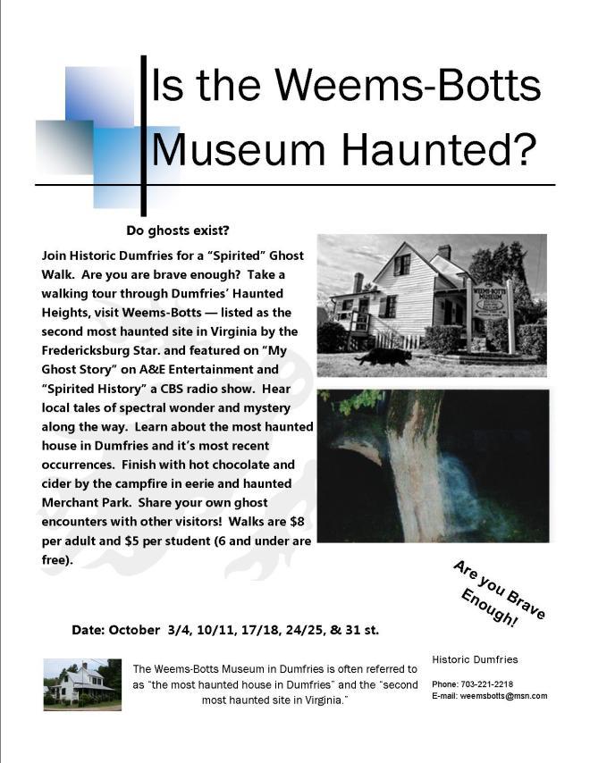 Ghost Walk Flyer 2014